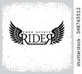 vintage label with word 'rider' ... | Shutterstock .eps vector #348765512