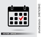 calendar sign icons  vector... | Shutterstock .eps vector #348765842