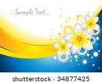 background with frangipani... | Shutterstock .eps vector #34877425