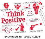 positive thinking. chart with... | Shutterstock .eps vector #348776075