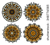 abstract floral circular... | Shutterstock .eps vector #348776585
