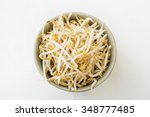 Bean Sprouts In A Green Ceramic ...