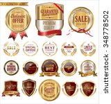 quality golden badges and... | Shutterstock .eps vector #348778502