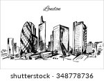 hand drawn london cityscape | Shutterstock .eps vector #348778736