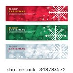 a set of merry christmas happy... | Shutterstock .eps vector #348783572