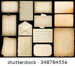 old paper sheets with edges.... | Shutterstock . vector #348784556