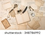 Постер, плакат: Old handwritten letters pictures