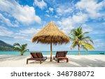 Beach Chairs  Umbrella And...