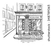 paris cafe | Shutterstock .eps vector #348789365
