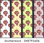 seamless pattern with grapevine....