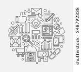 seo vector illustration  ...   Shutterstock .eps vector #348792338