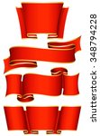 collection of 4 red ribbon.... | Shutterstock .eps vector #348794228
