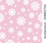 seamless pink pattern with... | Shutterstock .eps vector #348802766