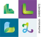 logo idea of letter l set | Shutterstock .eps vector #348804872