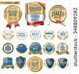 quality golden badges and... | Shutterstock .eps vector #348809282