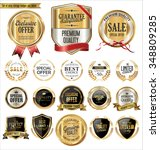 quality golden badges and... | Shutterstock .eps vector #348809285