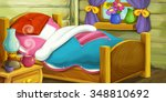 cartoon background for fairy... | Shutterstock . vector #348810692