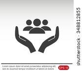 business man icon.   team work | Shutterstock .eps vector #348812855