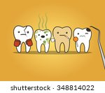 teeth bad company. concept of... | Shutterstock .eps vector #348814022