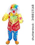 Portrait Of A Clown Isolated O...