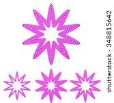 magenta line star shape logo... | Shutterstock .eps vector #348815642
