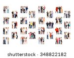 corporate teamwork united... | Shutterstock . vector #348822182