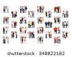 corporate teamwork united... | Shutterstock . vector #348822182