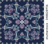paisley pattern  colour scarf... | Shutterstock .eps vector #348828956