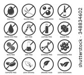 food allergen icons set. vector ... | Shutterstock .eps vector #348834602