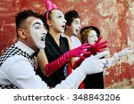 Mimes Portray Surprise