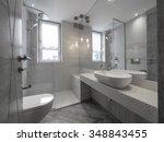 apartment bathroom   Shutterstock . vector #348843455