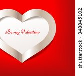 red valentine's day background... | Shutterstock .eps vector #348845102