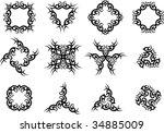 vector tribal tattoo set | Shutterstock .eps vector #34885009