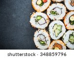 california sushi style rolls ... | Shutterstock . vector #348859796
