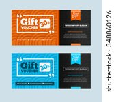 two coupon voucher design. gift ...