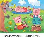 three little pigs. english... | Shutterstock . vector #348868748
