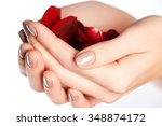 manicure  hands   spa.... | Shutterstock . vector #348874172