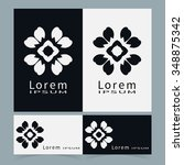 black and white symbols ... | Shutterstock .eps vector #348875342
