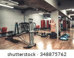empty boxing area in the gym.... | Shutterstock . vector #348875762