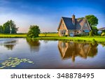 red bricks house in countryside ... | Shutterstock . vector #348878495