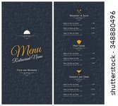 restaurant menu design. vector... | Shutterstock .eps vector #348880496
