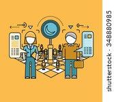 recruitment icon flat design... | Shutterstock . vector #348880985