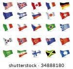 1. usa  great britain  canada ... | Shutterstock .eps vector #34888180