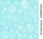 merry christmas balls doodle... | Shutterstock .eps vector #348885266