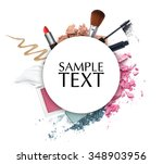 cosmetic promotion circle frame | Shutterstock . vector #348903956