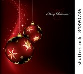 a christmas design with two red ... | Shutterstock .eps vector #34890736