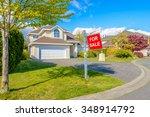 a perfect neighborhood. houses... | Shutterstock . vector #348914792