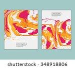 vector ink texture watercolor... | Shutterstock .eps vector #348918806