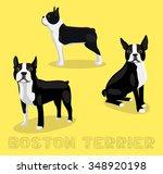 dog boston terrier cartoon... | Shutterstock .eps vector #348920198