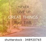 inspirational quote  ... | Shutterstock . vector #348920765